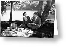 Silent Film Still: Picnic Greeting Card