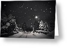 Silent Night Greeting Card