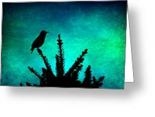 Silhouette Blues Greeting Card