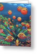 Sillyfish 2 Greeting Card by Barbara Stirrup