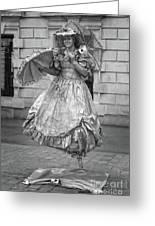 Human Statue - Black And White Greeting Card