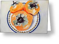 Simply Persimmons Greeting Card
