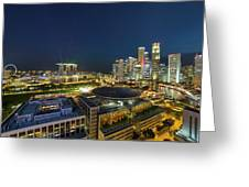 Singapore Cityscape At Night Greeting Card