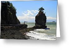 Siwash Rock Stanley Park Vancouver Greeting Card