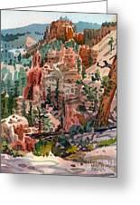 Skunk Creek Trailhead At Bryce Greeting Card