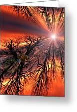 Sky Fire Greeting Card