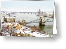 skyline  of  Budapest, Hungary Greeting Card