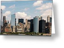 Skyline Of New York City - Lower Manhattan Greeting Card