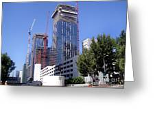 skyscraper construction in Downtown Los Angeles... Greeting Card
