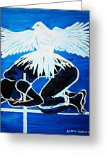 Slain In The Holy Spirit Greeting Card