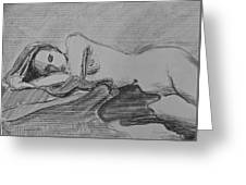 Sleeping Nude Greeting Card