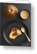 Slice Of Marble Cake Greeting Card