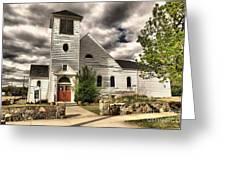 Small Town Church Greeting Card