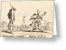 Smaralo Cornuto And Ratsa Di Boio Greeting Card