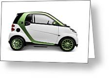 Smart Fortwo Electric Drive Greeting Card