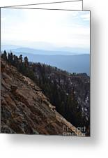 Smoky Evening Vista Over Kings Canyon Greeting Card
