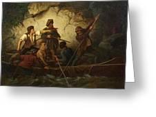 Smuggler In A Boat Greeting Card