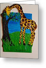 Snack Time For Giraffe Greeting Card