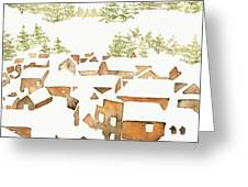 Snow Town Greeting Card