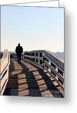 Solitary Man Walks Greeting Card