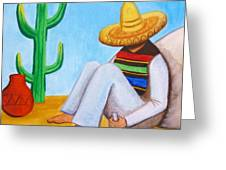 Sombrero Greeting Card by Lucy Deane