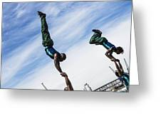 South African Street Acrobats  Greeting Card