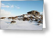 South Hessary Tor In The Snow II Greeting Card