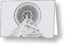 Space Needle- Looking Up Greeting Card