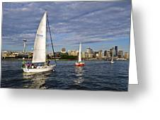 Space Needle Sail By Greeting Card