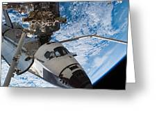 Space Shuttle Endeavour, Docked Greeting Card