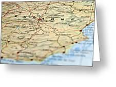 Spain Map Greeting Card