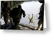 Special Operations Jumpers Exit A C-130 Greeting Card