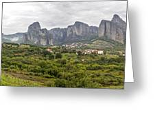 Spectacular Meteora Rock Formations Greeting Card