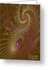 Spiral Maze  Greeting Card