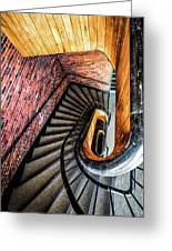 Spiral Stairwell Greeting Card