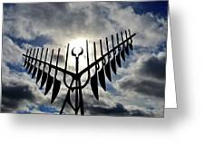 Spirit Catcher Against The Sky  Greeting Card