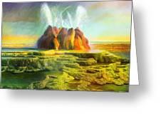 Spitting-fly Geyser In Nevada Greeting Card