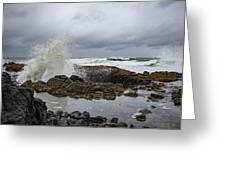 Splash In Thor's Well Greeting Card