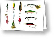 Sport Fishing Spinners Spoons And Plugs Greeting Card by Sharon Blanchard