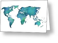 Spray Paint Map Greeting Card