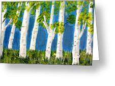 Spring Birch Greeting Card