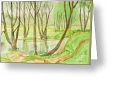 Spring Landscape, Painting Greeting Card
