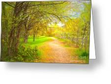 Spring Pathways Greeting Card