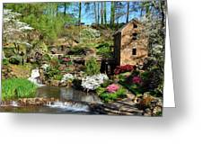 Springtime At The Old Mill Greeting Card