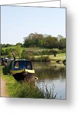 Springtime By The Canal Greeting Card