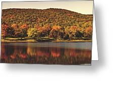 Squantz Pond In Autumn Greeting Card