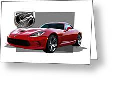 S R T  Viper With  3 D  Badge  Greeting Card