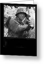 Ss Waffen Corporal Otto Funk Circa 1943 Greeting Card