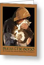 St. Francis With Cat Greeting Card