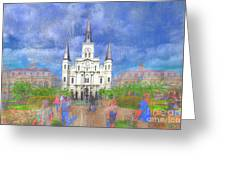 St Louis Cathedral  Greeting Card